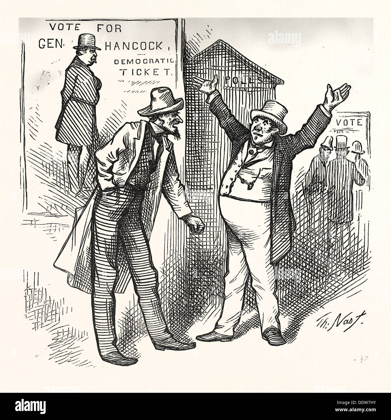 ROBBING OF HIS GOOD NAME, engraving 1880, US, USA - Stock Image