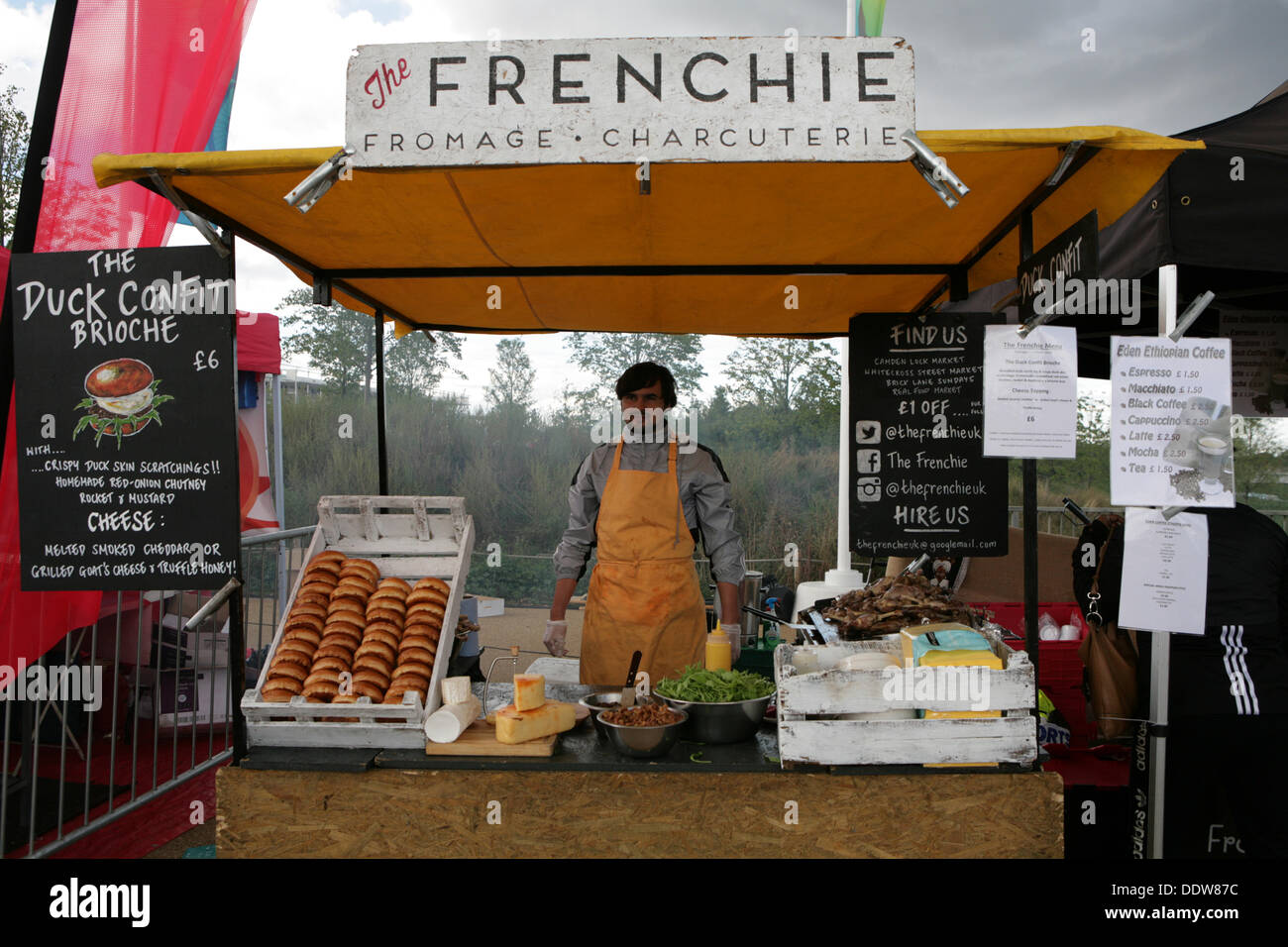 Stratford, UK. 7th September 2013. Frenchie food stall at the National Paralympic Day Credit: Keith larby/Alamy Live News - Stock Image