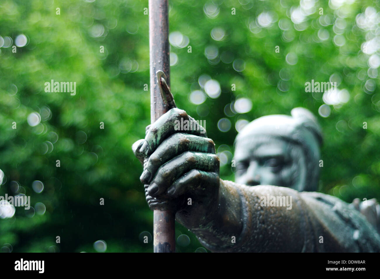 Robin Hood Statue,Nottingham,England. - Stock Image