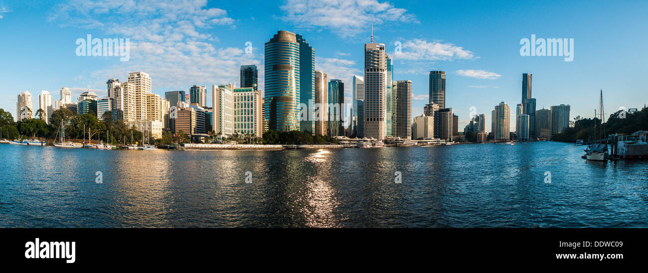 Panorama of the city of Brisbane, Queensland, Australia - Stock Image
