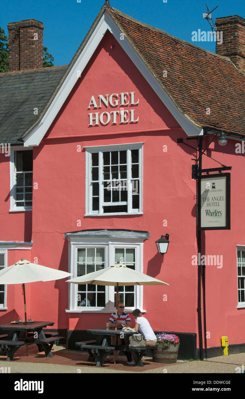 Angel Hotel Market Square Lavenham Suffolk England - Stock Image