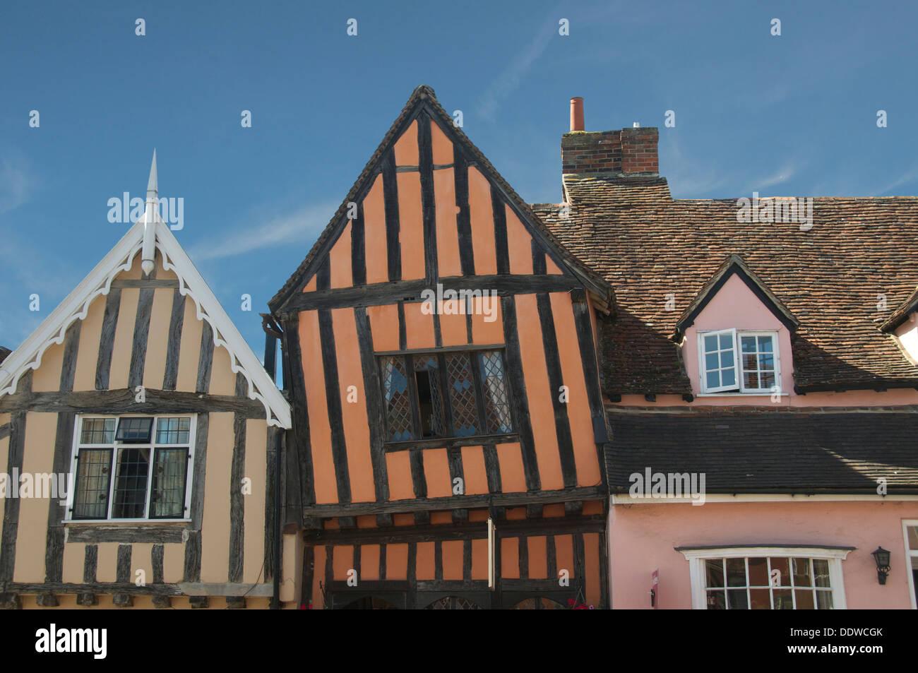 Crooked House High Street Lavenham Suffolk England - Stock Image
