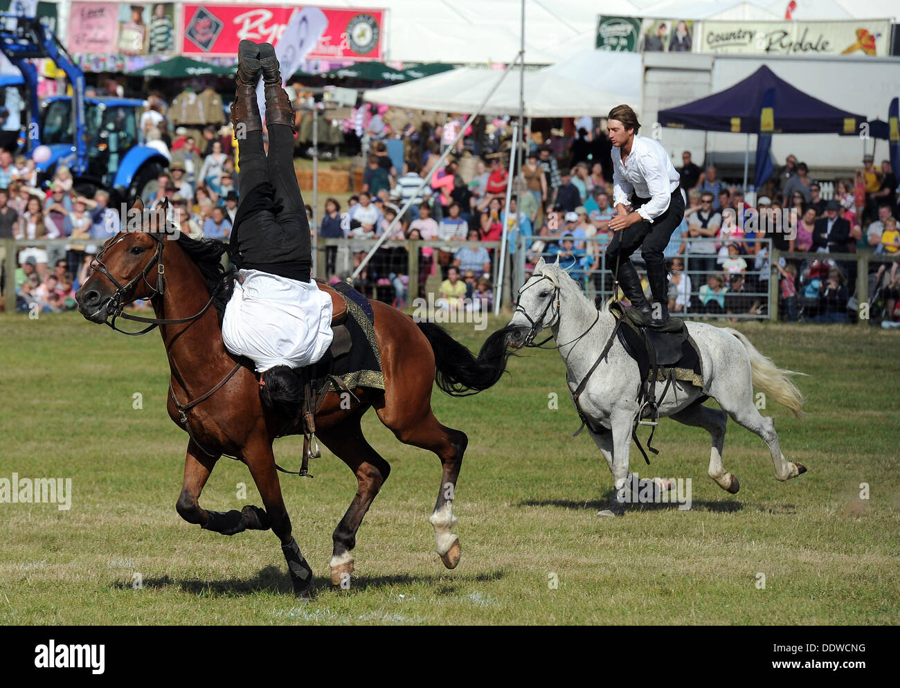 Dorset County Show, Britain, UK, The Devil's Horsemen Stunt Team, 07th September, 2013  Picture by Geoff Moore/Dorset Media Service/Alamy Live News - Stock Image