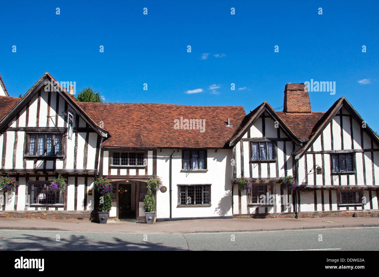 Swan Hotel High Street Lavenham Suffolk England - Stock Image