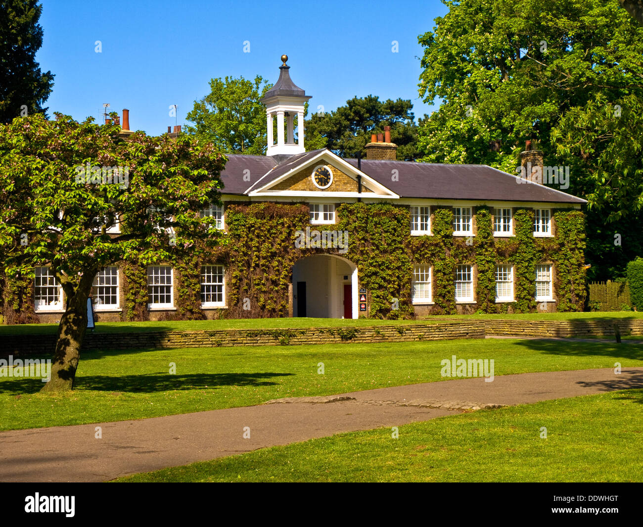 Old coach house, Marble Hill Park, Twickenham, London, England - Stock Image