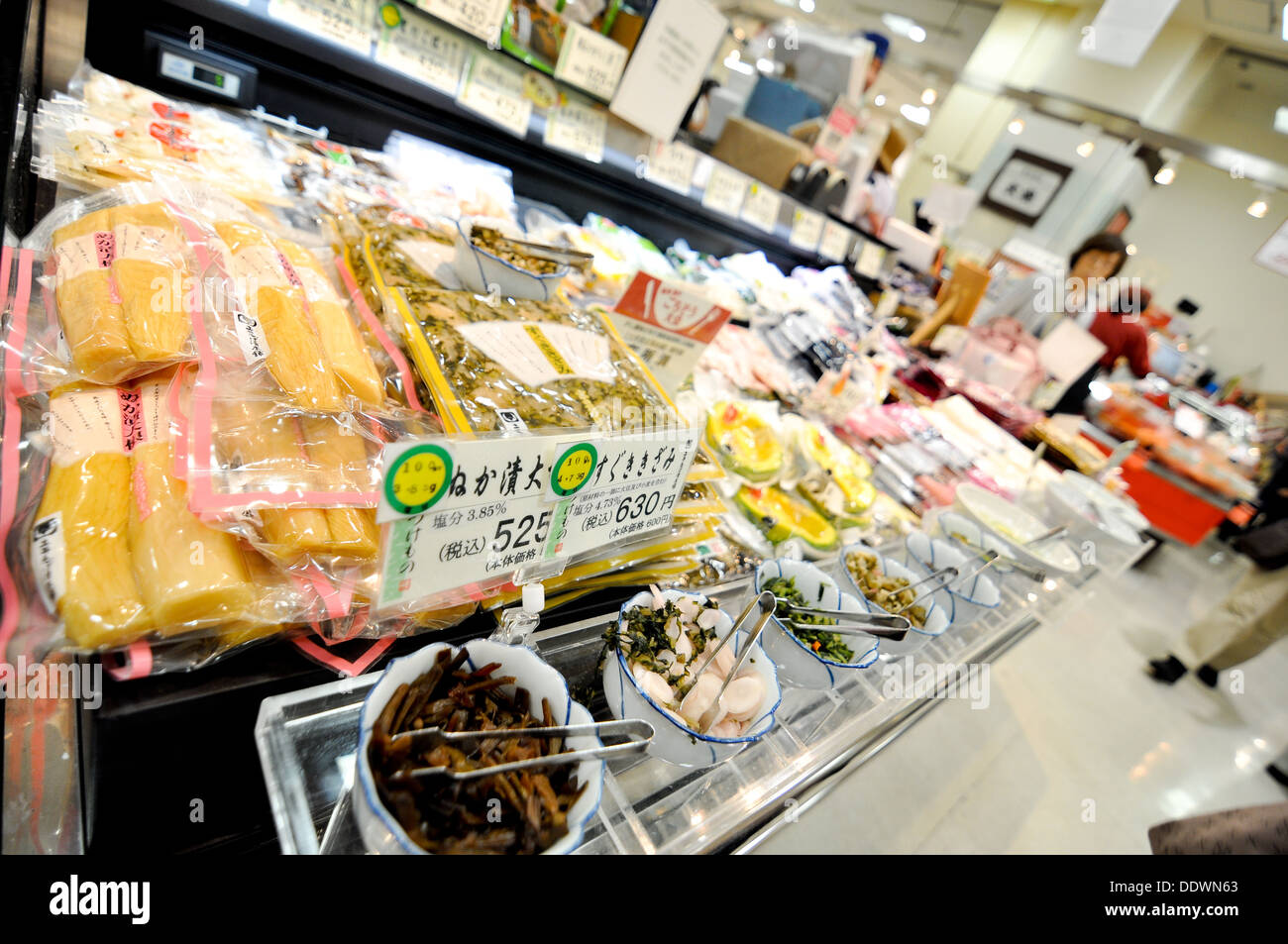 The food floor of a department store in Japan. - Stock Image