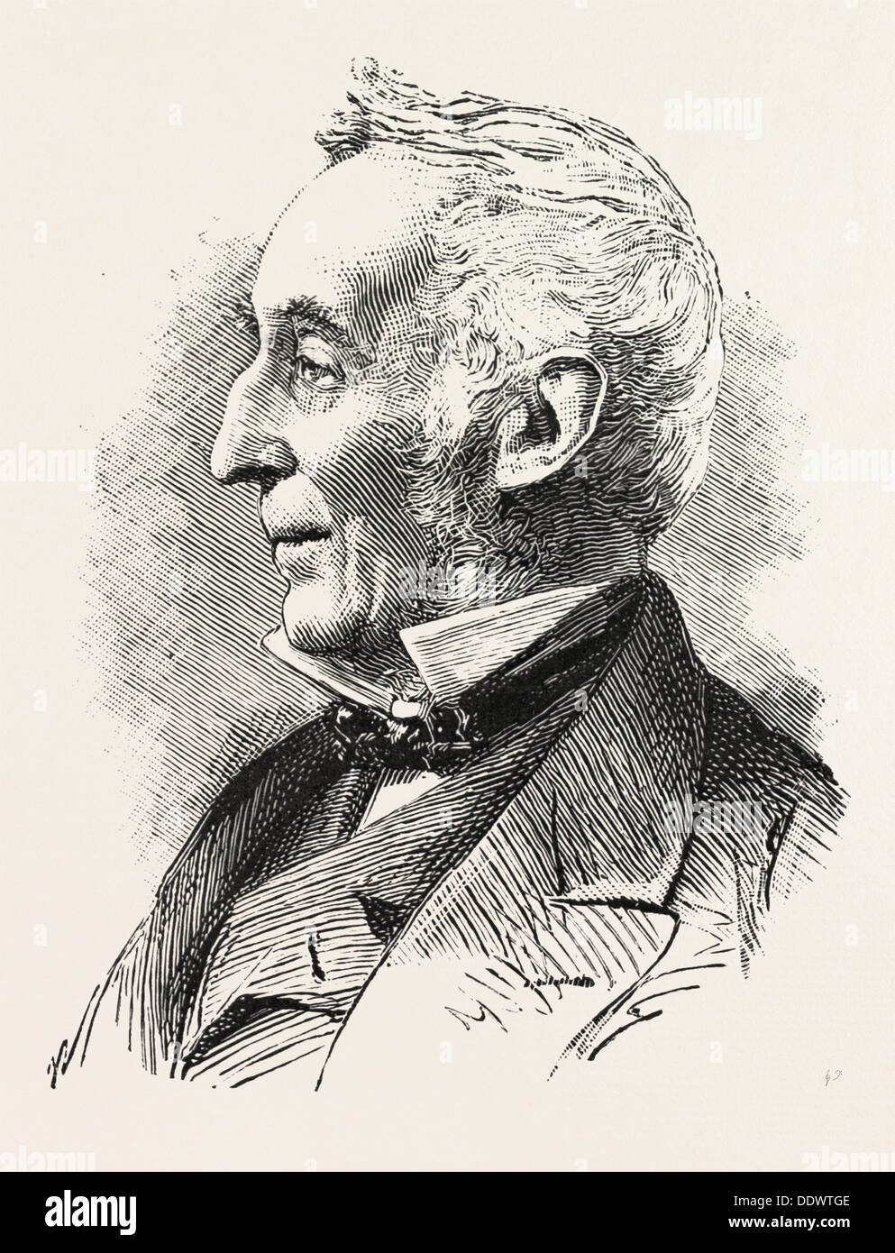 HIS GRACE THE DUKE OF WELLINGTON, K.G. Born Feb. 3, 1807 Died August 13, 1884, engraving 1884, UK, britain, british, europe - Stock Image