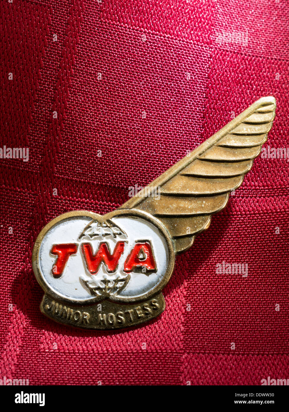 1960s Twa Airline Junior Hostess Wings Stock Photo 60190116 Alamy