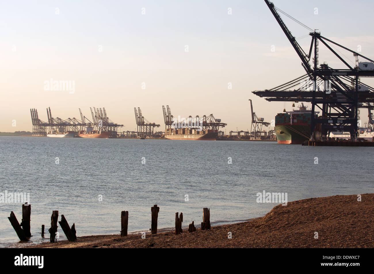 Port of Felixstowe Suffolk UK - Stock Image