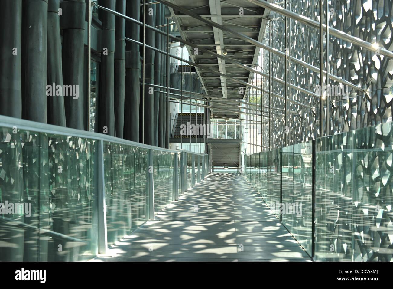 Museum MuCEM Marseille, France. - Stock Image