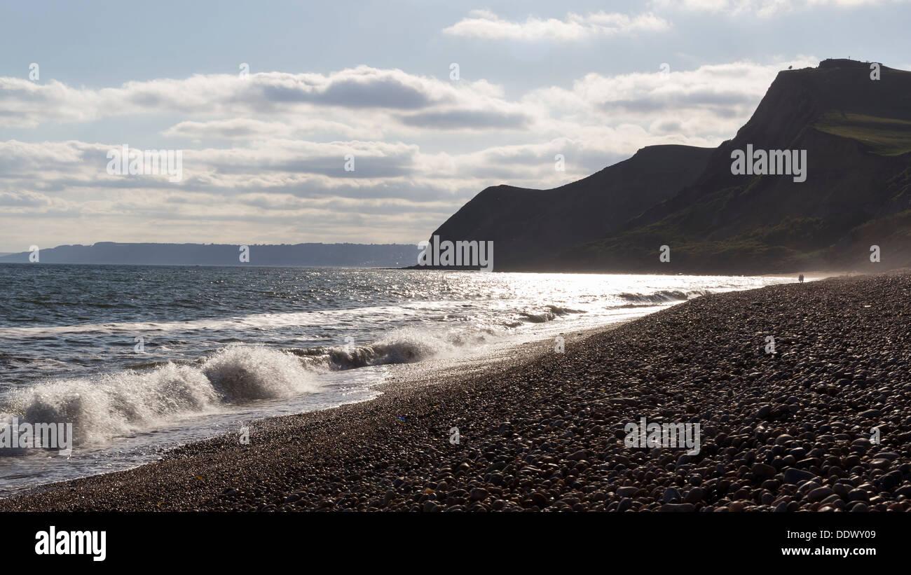 Shingle beach at Eype Dorset England UK Europe - Stock Image