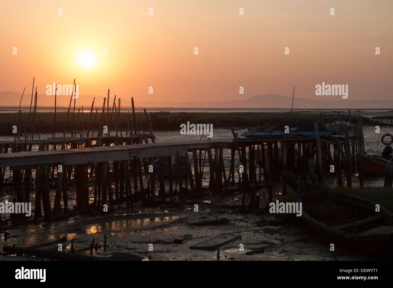 Palafític Fishing Port of Carrasqueira - Stock Image