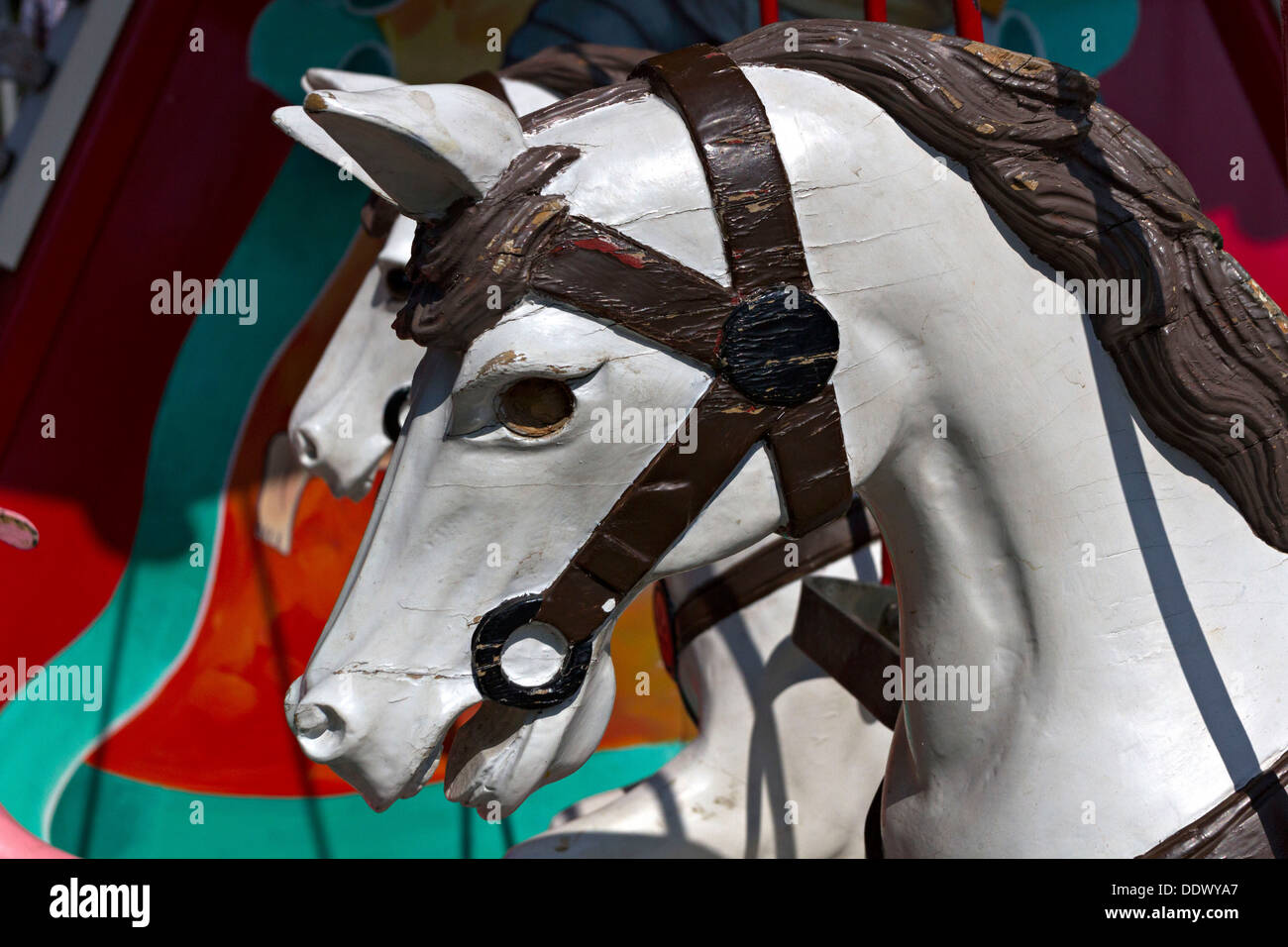 Old Horse Carousel Merry Go Round Chiemgau Upper Bavaria Germany