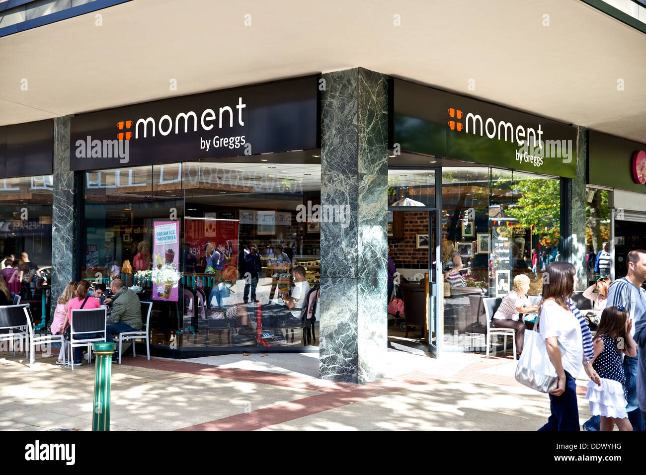 Moment Shop Front By Greggs - Stock Image