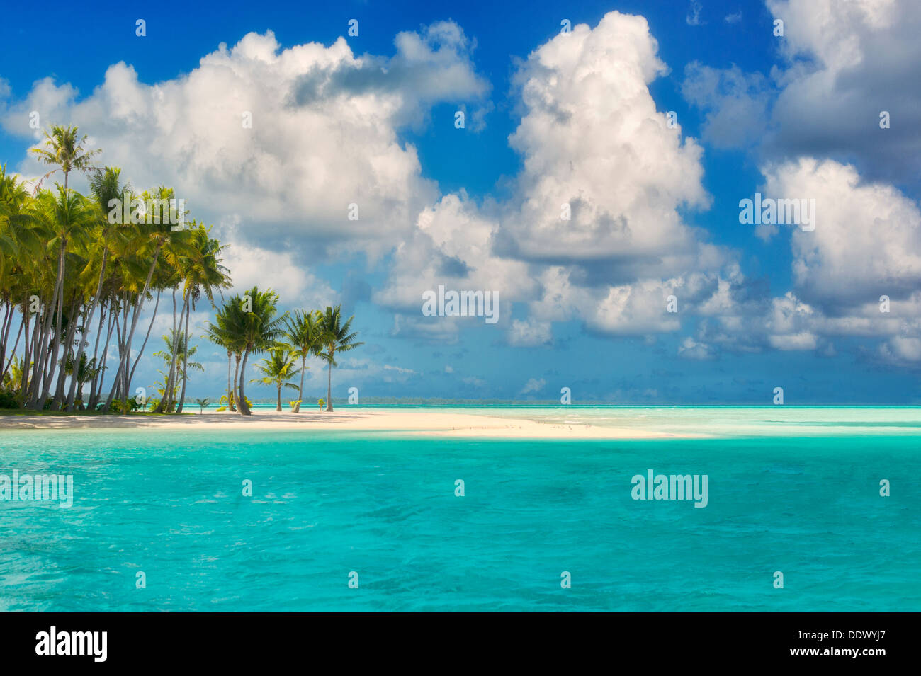 Small island in Bora Bora. French Polynesia - Stock Image