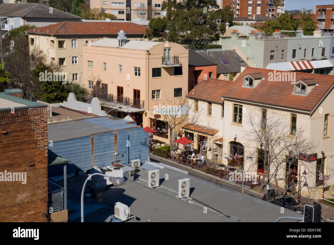 kirribilli viewed from harbour bridge,sydney - Stock Image