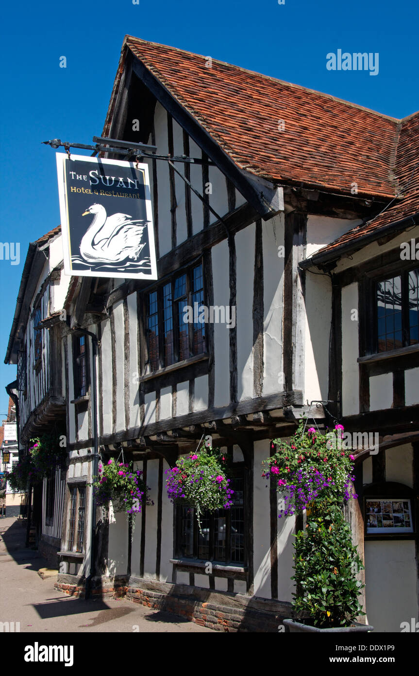 Swan Hotel High Street Lavenham Suffolk England Stock Photo