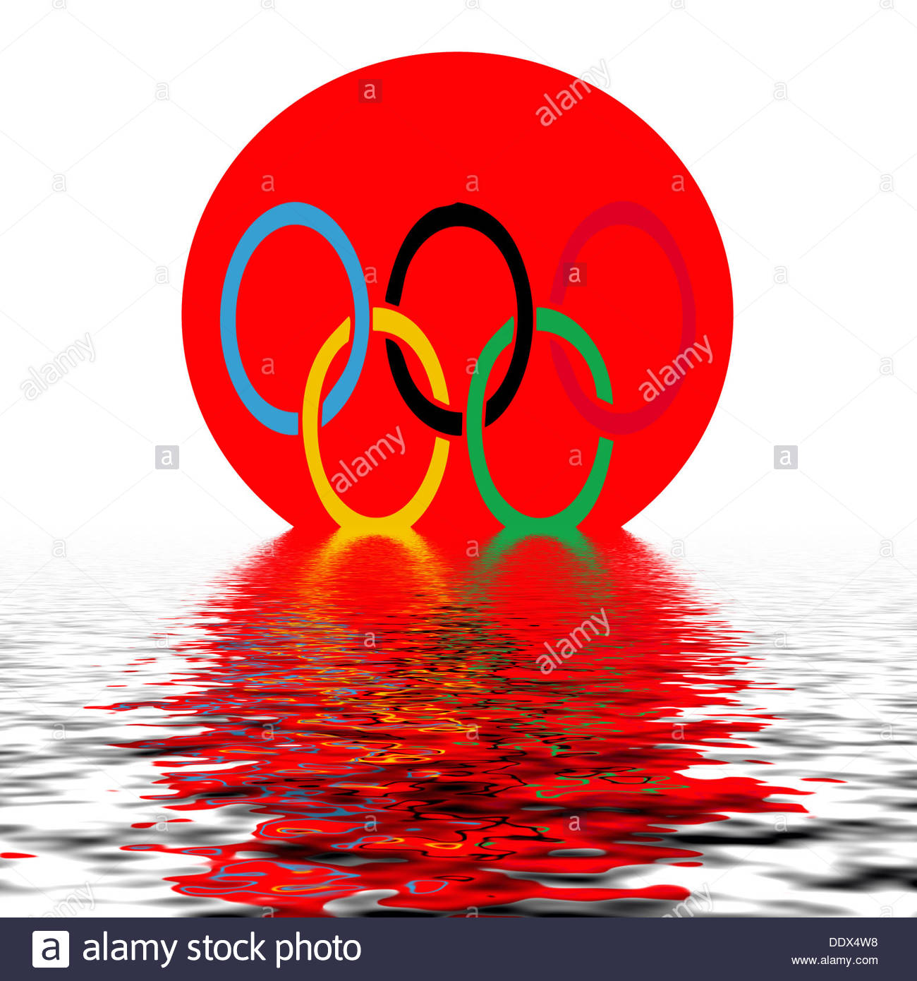 Digital composition - Tokyo Olympics 2020 - Stock Image
