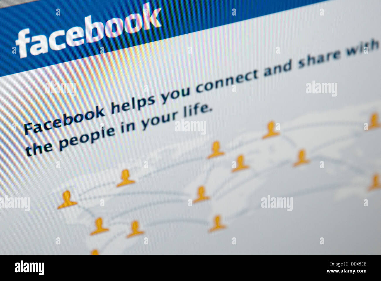 Facebook web page - Stock Image