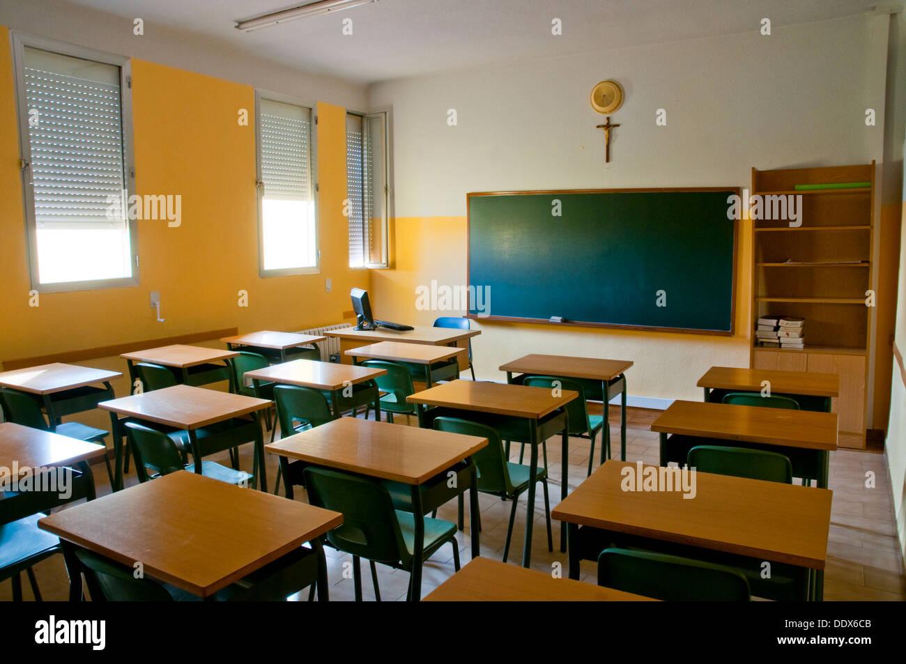 Empty classroom. Stock Photo