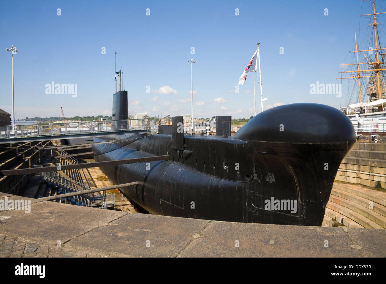 Historic Dockyard Chatham Kent HMS Ocelot (S17) an Oberon-class diesel-electric submarine laid down by HM Dockyard Chatham 1960 - Stock Image