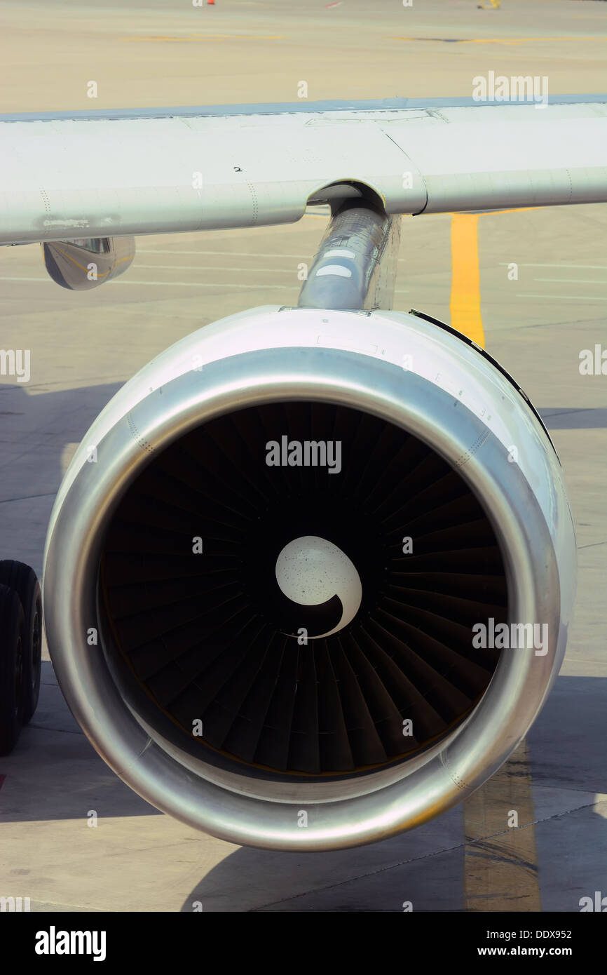 Jet engine, Technology - Stock Image