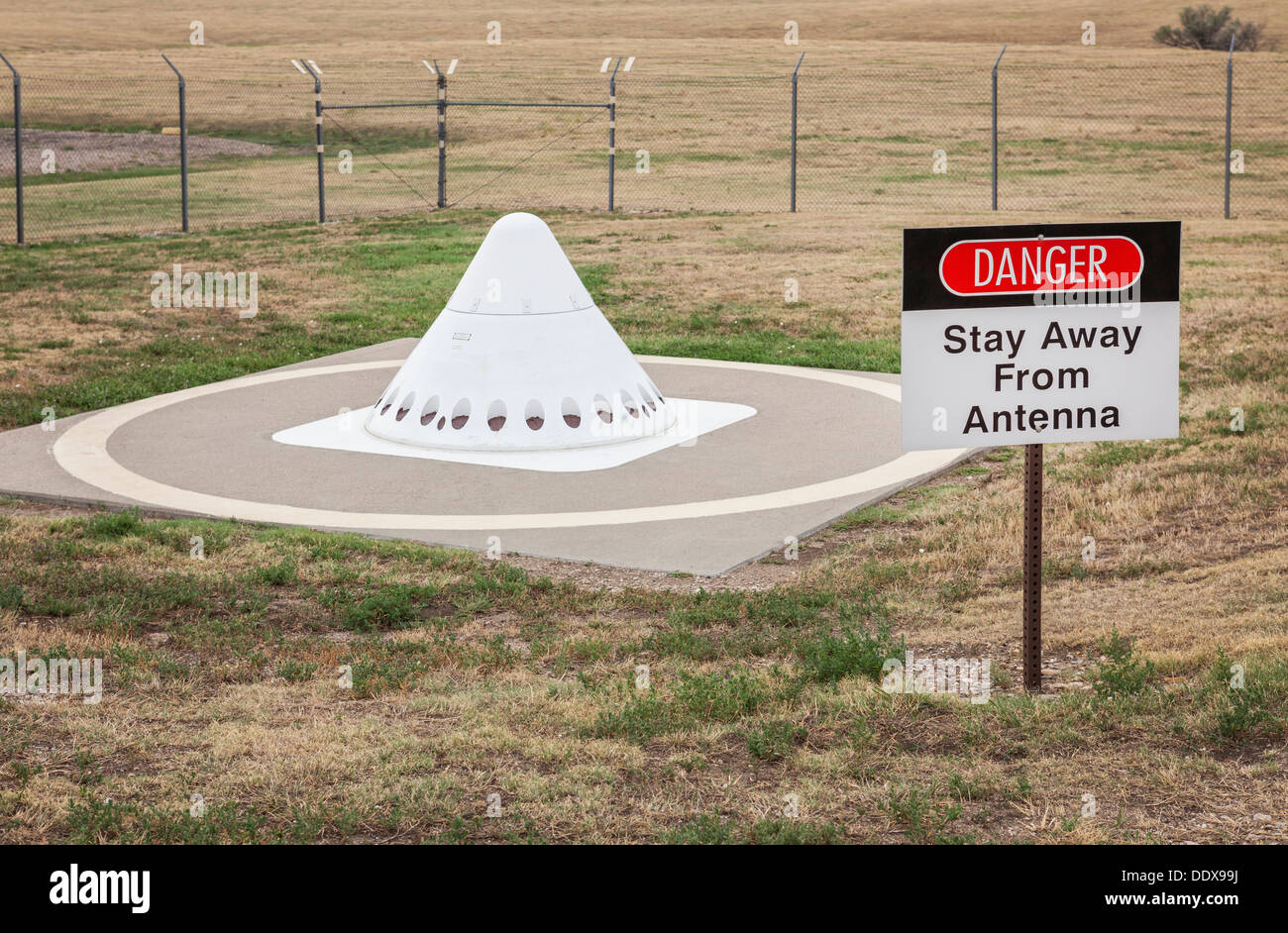 Antenna, Minuteman Missile National Historic Site, South Dakota - Stock Image