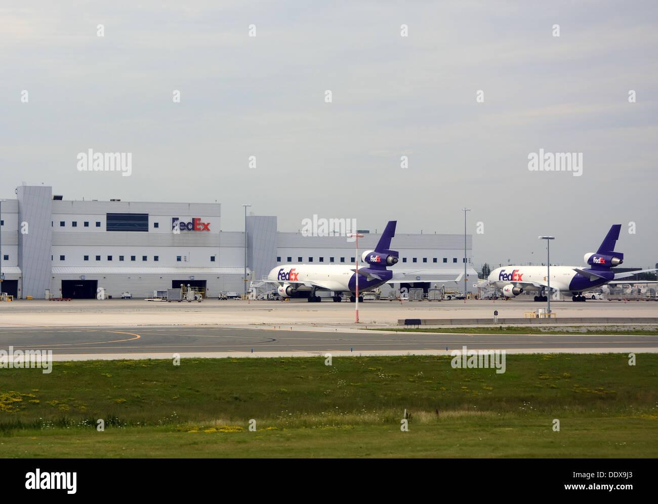 Fedex airplanes - Stock Image