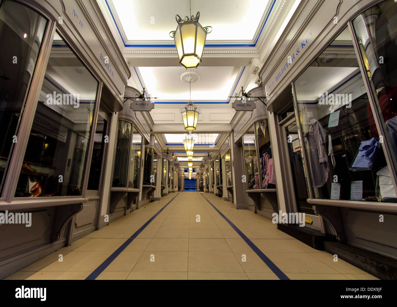 Piccadilly  Arcade in Jermyn Street, London, UK - Stock Image