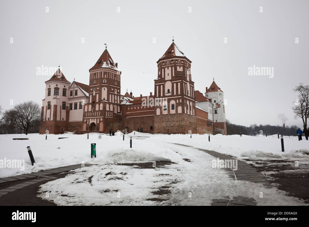 Mir Castle in the district of Hrodna voblast, Belarus - Stock Image