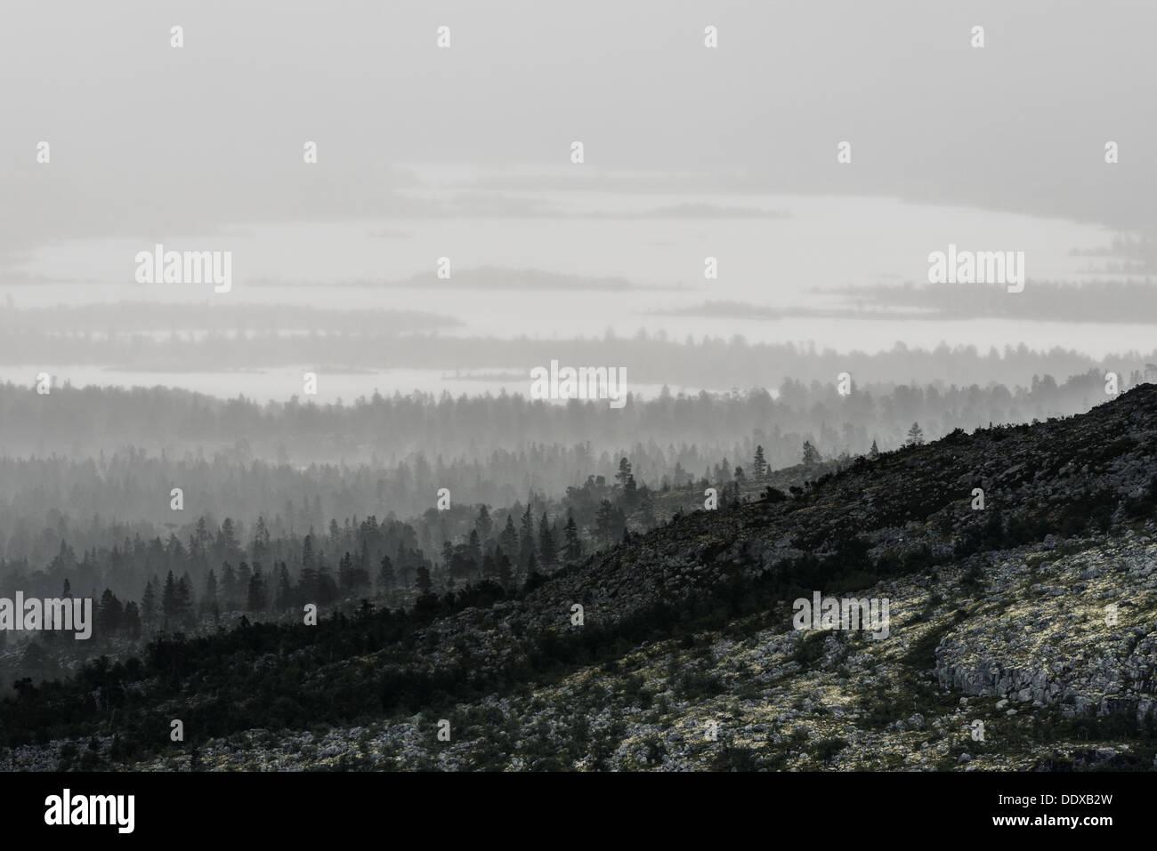 Rural scene, Dalarna, Sweden - Stock Image