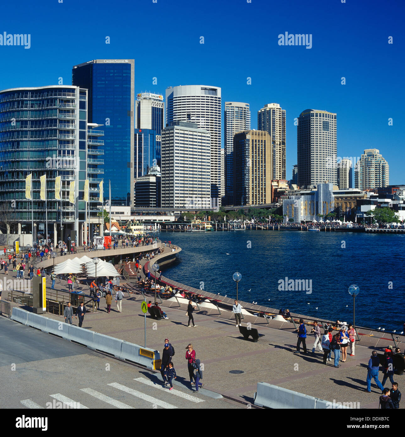 Sydney cove and Sydney downtown - Stock Image