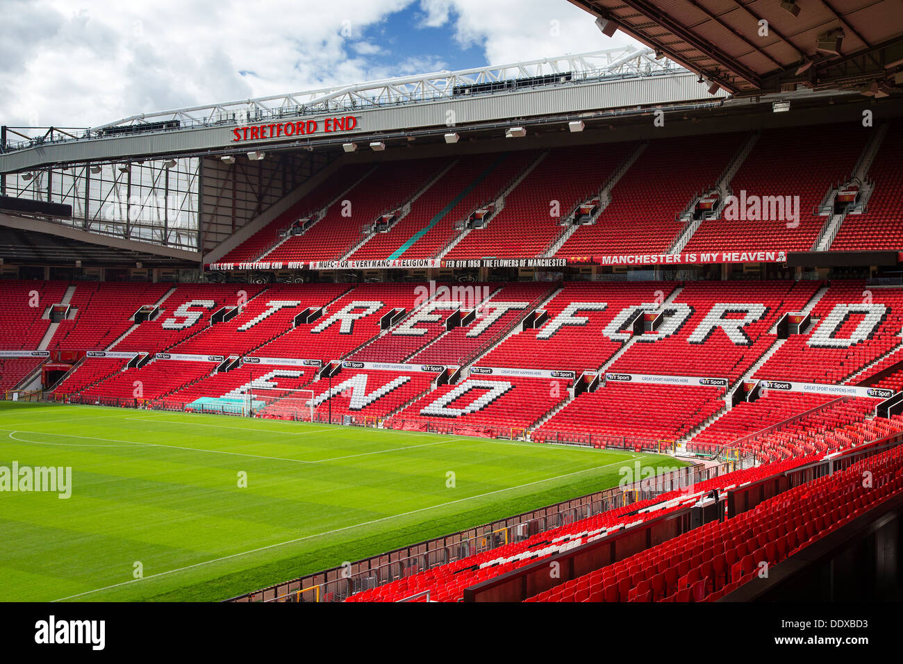 Stretford End Stand at Manchester United's Football Stadium, Old Trafford - Stock Image