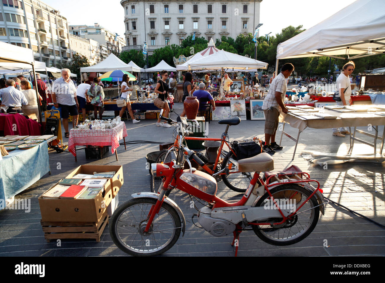 Antiques market, Pescara, Italy. - Stock Image