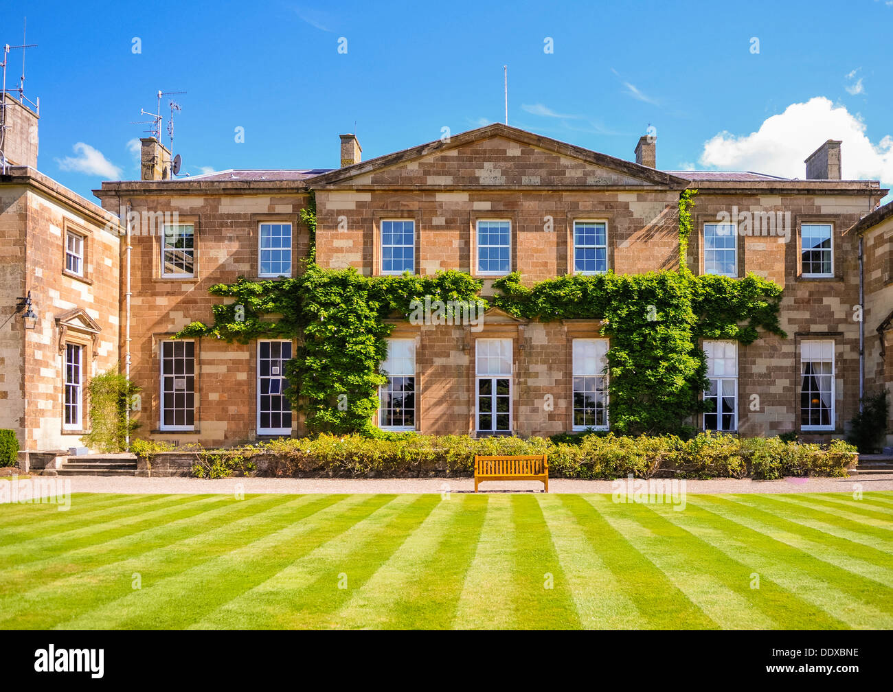 Hillsborough Palace, formerly known as Hillsborough Castle, the official Royal residence in Northern Ireland. - Stock Image