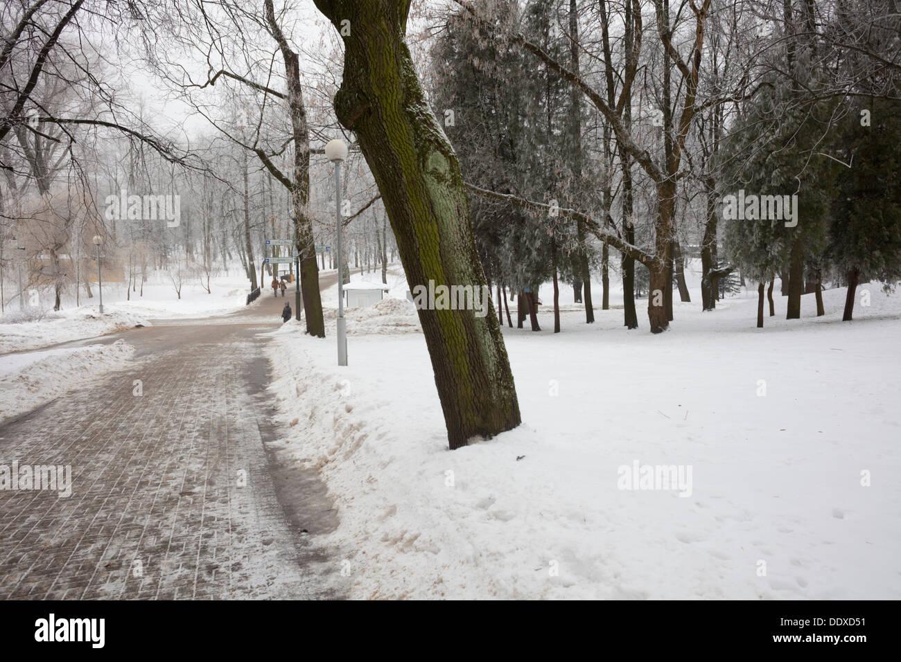 Gorky Park in Minsk, Belarus. - Stock Image