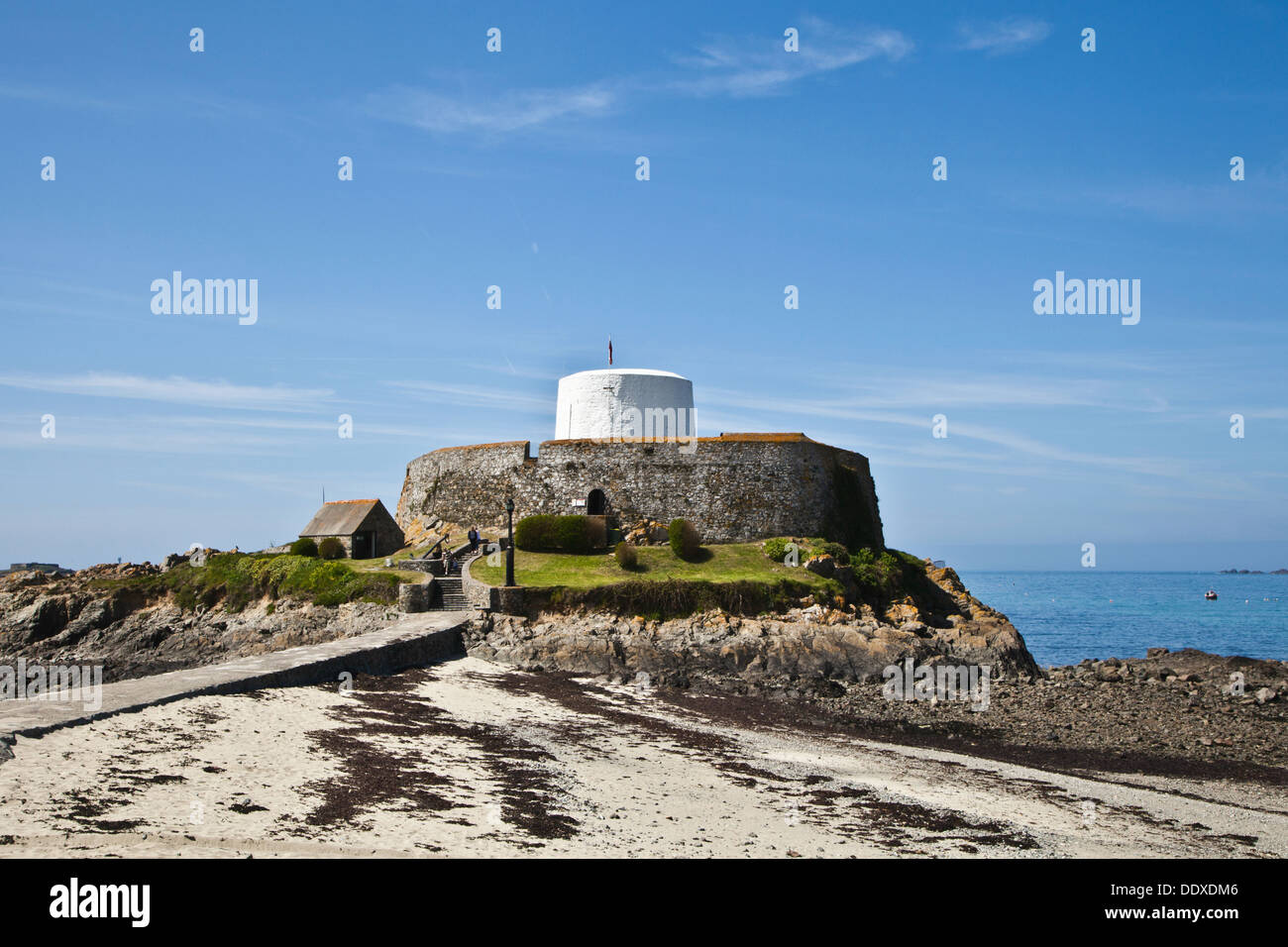 Fort Grey, World War II German defences and fortifications in Guernsey, Channel Islands, UK - Stock Image