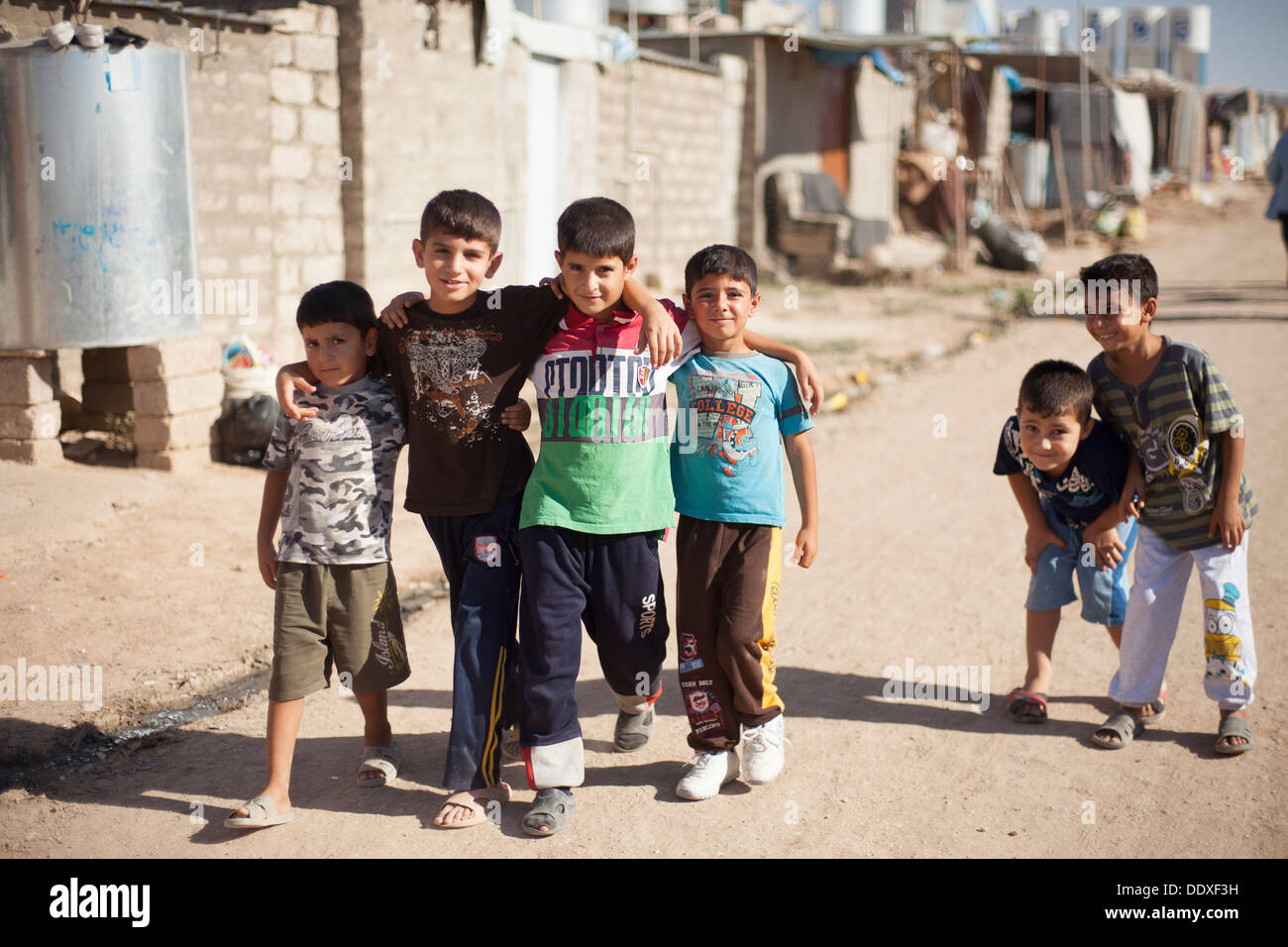 Domiz, Duhok province - Northern Iraq (Iraqi Kurdistan) - Domiz Refugees Camp Children are 70% of the people hosted in the camp - Stock Image