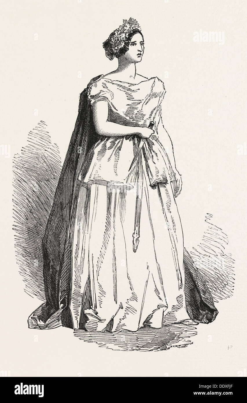 MADAME FIORENTINI, AS 'NORMA.' 1850 - Stock Image