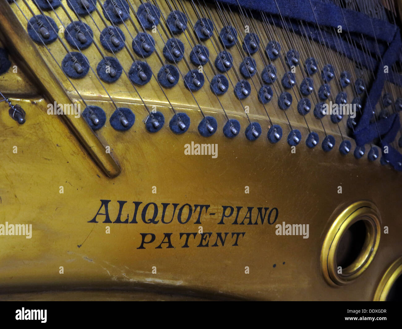 Bluthner Piano detail 37400, keys, mechanism, Leipzig, Germany - Stock Image