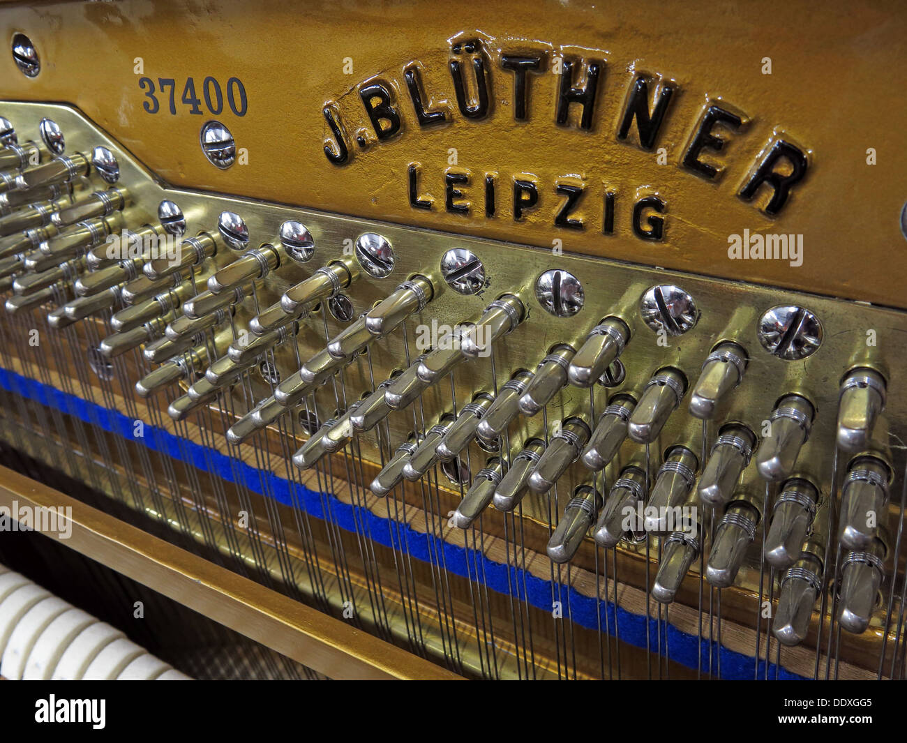 Restored J. Bluthner Leipzig Germany piano 37400 - Stock Image