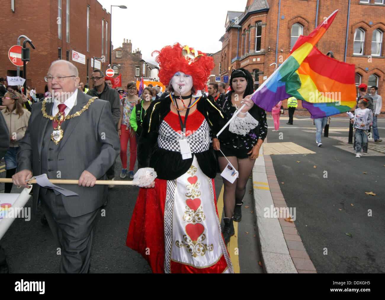 Lord Mayor, Warrington LGBT Pride event , September in Town Centre, Cheshire, England, UK - Stock Image