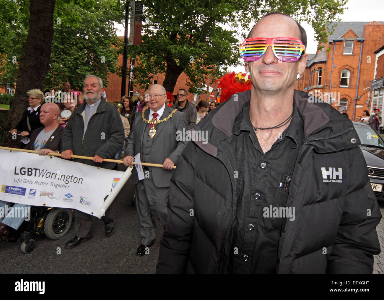 Warrington LGBT Pride event, Bold St , September in Town Centre, Cheshire, England, UK - Stock Image