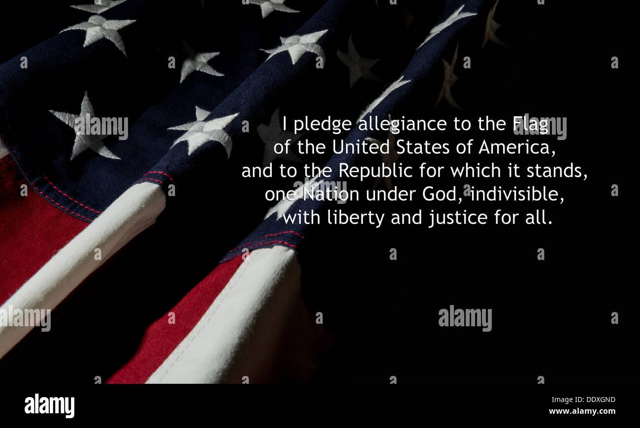American Pledge of Allegiance - Stock Image