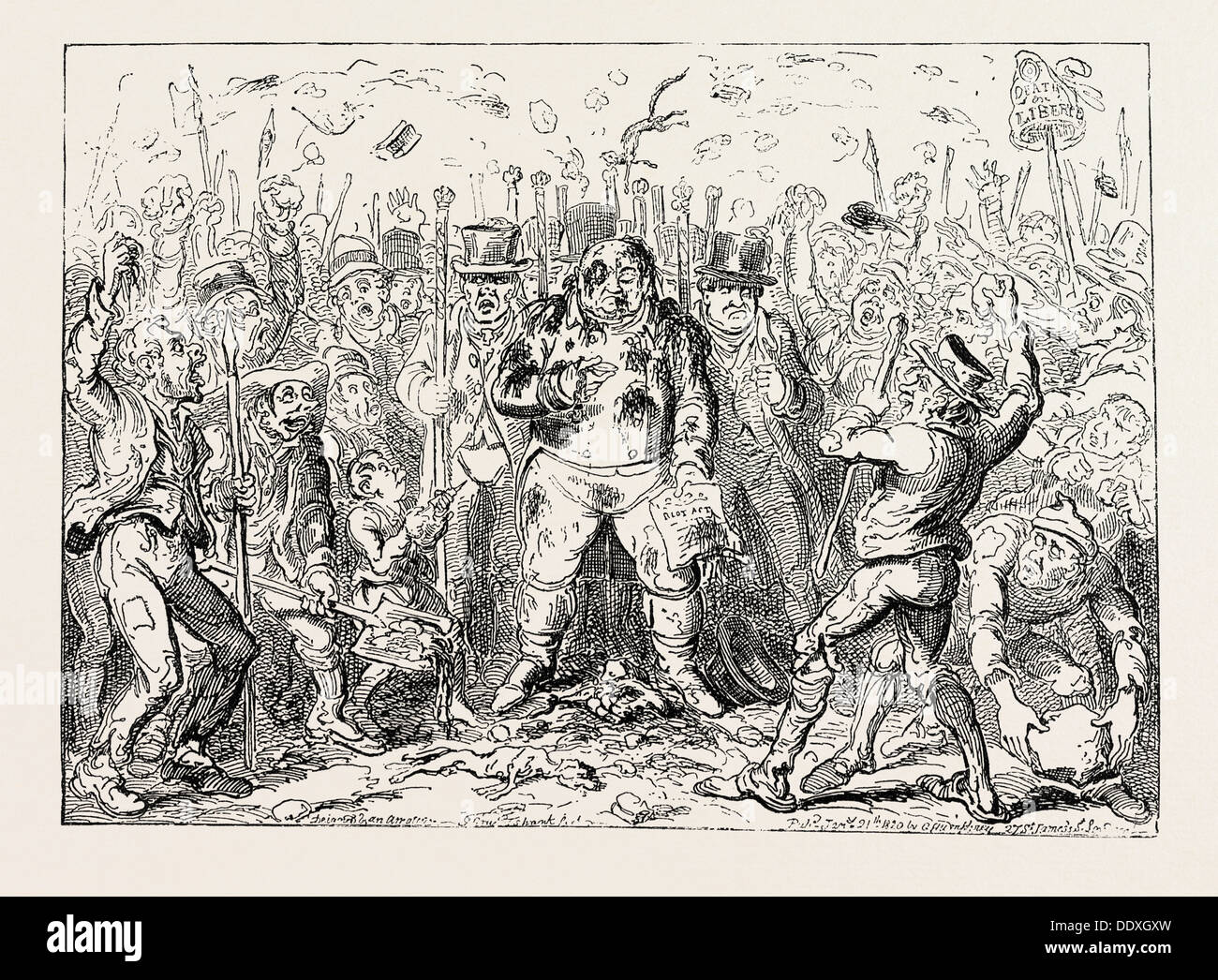 GEORGE CRUIKSHANK: THE LAW'S DELAY! - Stock Image