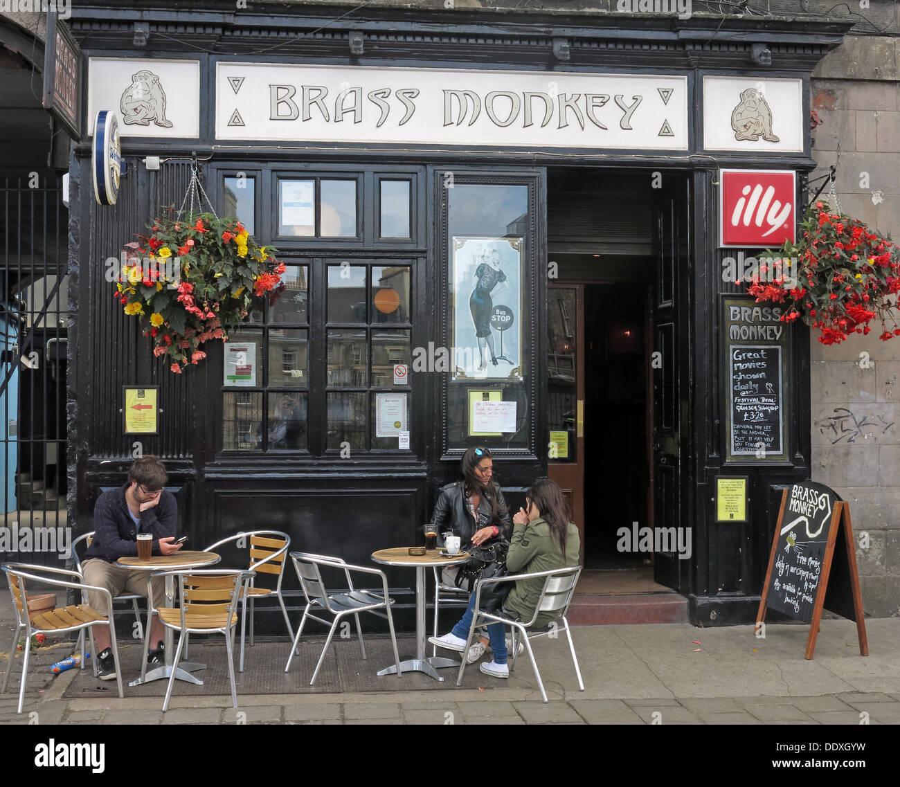 The Brass Monkey Pub, Edinburgh, Scotland, UK Stock Photo