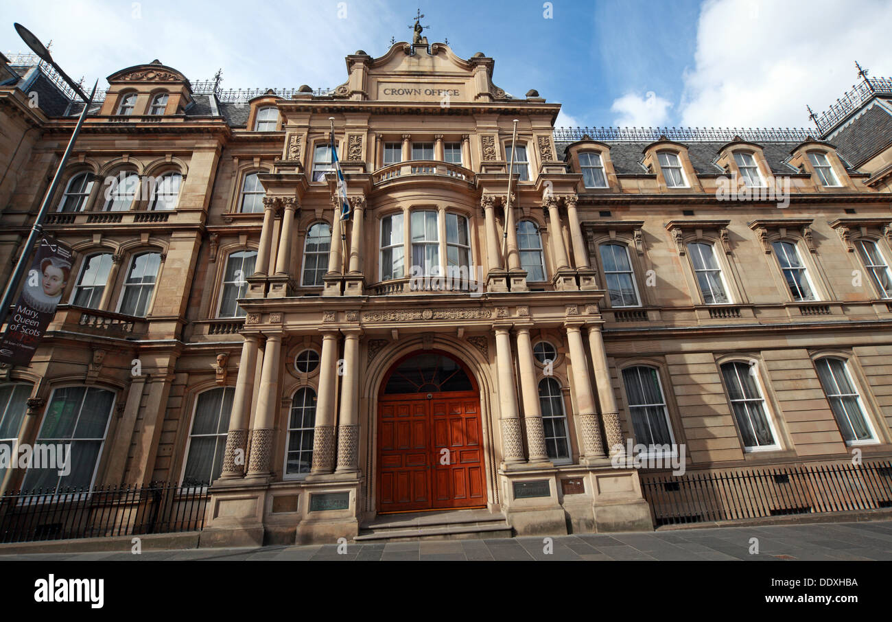 Edinburgh Crown Office, Chambers St, Edinburgh, Scotland,UK, EH1 1LA - Stock Image