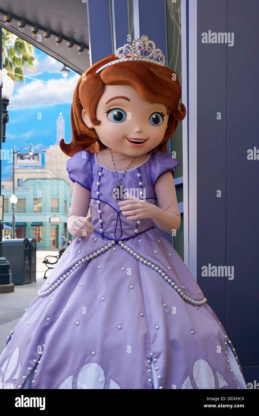 Sofia the First, Princess, Disney, Character, Disneyland, Anaheim, California Stock Photo