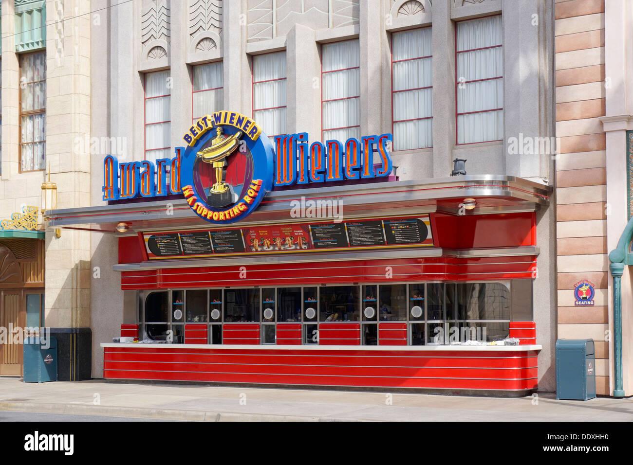 Award Wieners, Disneyland, California Adventure Park, Anaheim - Stock Image