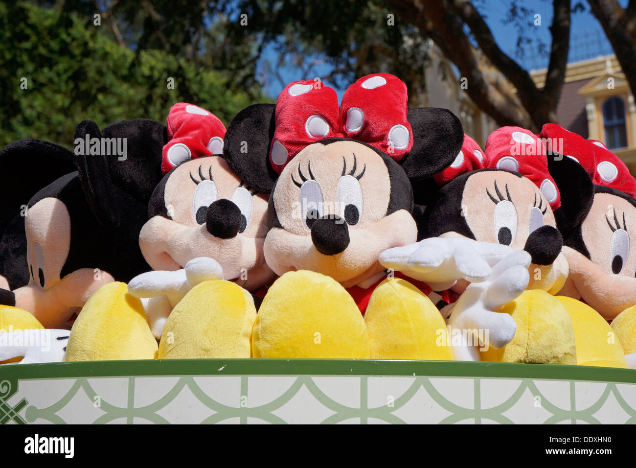 Minnie Mouse, Soft Toys, Disneyland Resort, Anaheim, California - Stock Image